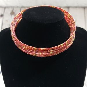 BOHO BEADED THICK CHOKER